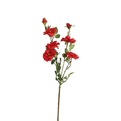 Marvvola Wohnaccessoires & Deko Kunstblumen 1 Strauß,Rosenblüten Party Home Decor Blume Pfirsichblüte Hochzeit Bouquet Braut Hortensie Dekor (B) (Strauß Seidenblumen)