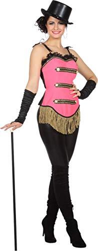 Wilbers Showkostüm Show Zirkus Tanz Korsett Kostüm Damen Rosa Fransen Karneval Fasching Rosa 44