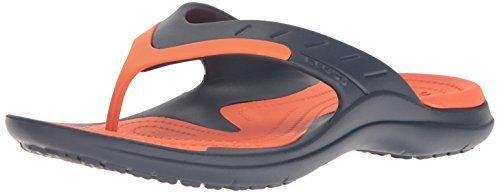 crocs Unisex Modi Sport Flip Navy and Bijou Blue Flip-Flops and House Slippers