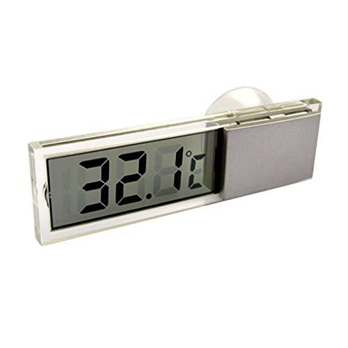 Lorjoy Mini thermomètre Celsius Fahrenheit LCD Températures mètre numérique Ventouse pour Les Soins de santé Car Intérieur Extérieur