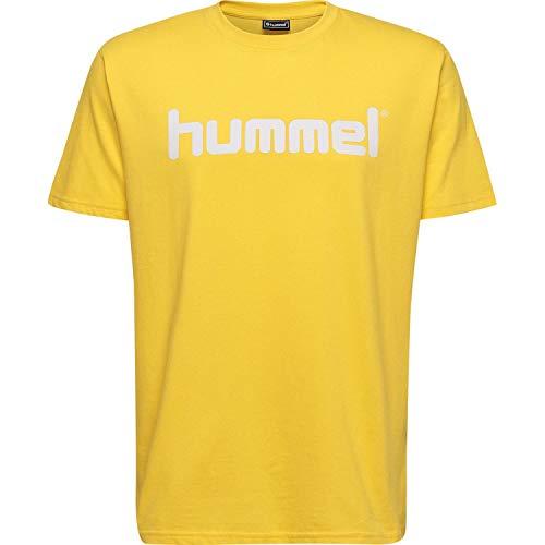 hummel Kinder HMLGO Kids Cotton Logo T-Shirts Sports Gelb 140