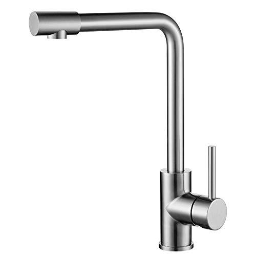 JONTON Küchenarmatur heißer und kalter Kupfer 304 Edelstahl spüle einlochmontage kühlbecken Wasserhahn kann gedreht Werden