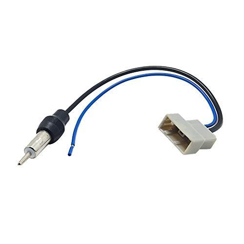 Yaoaoden Autoradio-Antennenadapter-Leitungsteile vom verdrahteten CD-Player des Autoradios schwarz