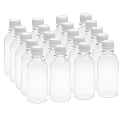 sourcing map 20Stück 6.8oz/200ml PlastiK Labor Reagensflasche kleine Mund Container sauber Flasche -