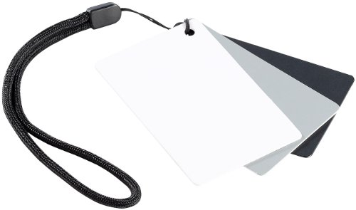 Somikon Fotozubehör: 3in1-Graukarte im Kreditkartenformat f. digitalen Weißabgleich (Fotografie Zubehör) (Karte Grau)