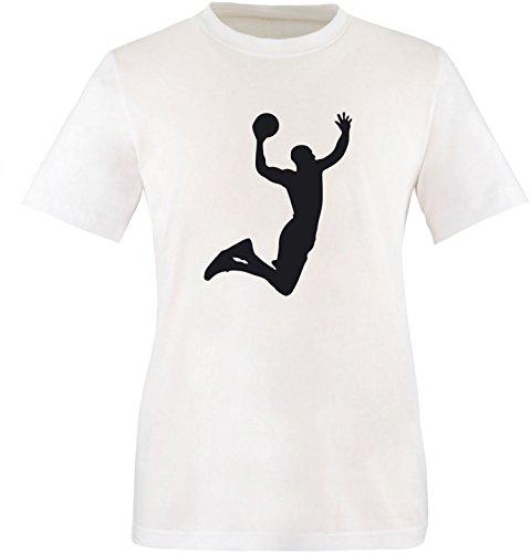EZYshirt® Basketball   Slam Dunk Herren Rundhals T-Shirt Weiß/Schwarz