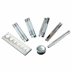 11pcs outil artisanal matrice poinçon enclencher rivet kit setter pour maroquinerie bricolage