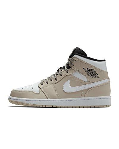 Nike Herren Air Jordan 1 Mid Beige Leder/Synthetik/Textil Sneaker 47 (Jordan Turnschuhe Nike Air)
