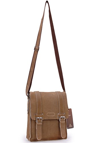 Borsa Messenger Midi A5 Kindle/ipad Ashwood in pelle - Camden - Ed - 8355 Marrone chiaro