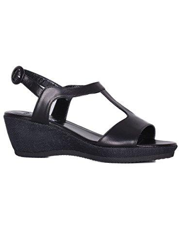 Sandalo Cervone Zeppa Nero