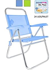 Aquapro Chaise plage aluminium 5positions Vert
