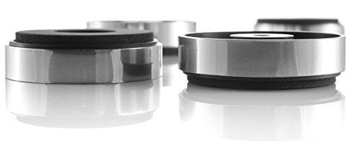 16x Hifi Lab Geräte-Füße 40×11 silber Absorber Audio Füße 16 Stück