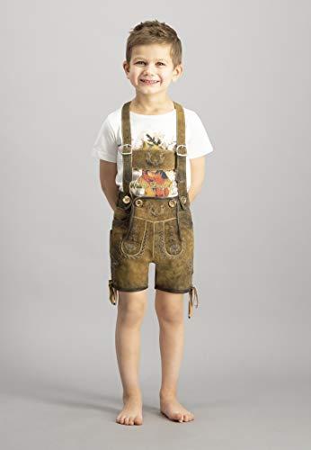 100% Hanf (Stockerpoint Jungen Hose Max Lederhose, Mehrfarbig Hanf Gespeckt, 98/104 (Herstellergröße: 98-104))
