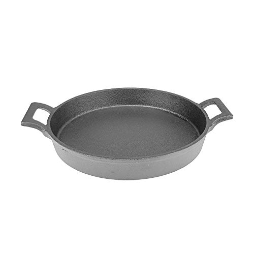 Gusseisen Pfanne - rund, 20 cm Ø, schwarz, 1,1 kg, geeignet für alle Herdarten und Induktion, backofengeeignet, verschiedene Mengen wählbar, Stückzahl:1 Stück