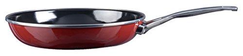 Kochstar 45003024 Casserole avec Manche Copper Core Cookware 24cm sans Couvercle en Bordeaux, Acier Inoxydable, Rouge, 24 cm
