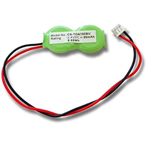 vhbw Ni-MH Bios Batterie 20mAh (2.4V) Notebook Laptop Toshiba Satellite A15-S1692, A40-S150, A40-S161, A40-S1611, A40-S200, A40-S2001. - Toshiba Satellite A40 S2001 Laptop