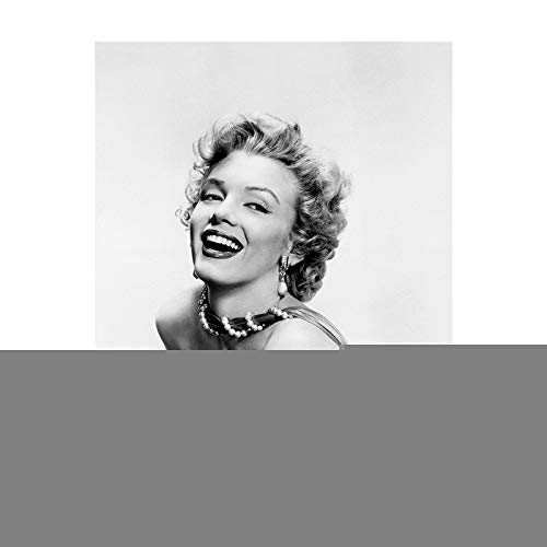 Anfwy Small Flying Skirt Fashion Classic Marilyn Monroe Poster Living Room Bedroom Home Decoration Canvas Painting Classic Wall Painting Hanging Picture Frameless Core 20 * 30cm No Frame 743 (5) (Monroe Marilyn Frames Picture)