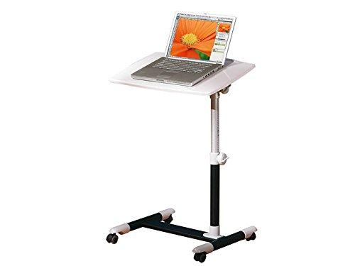 Inter Link Laptoptisch Tischständer Laptopständer Notebook Stehtisch Projektionstisch Tisch MDF Weiss Schwarz BxHxT: 60 x 60-88 x 40cm