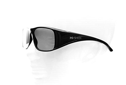 Hi-SHOCK® passive 3D-Brille für 4K 3D TV 's von LG® Philips®, Grundig®, Löwe®, Sony®, Panasonic®, Toshiba® | kompatibel mit AG-F420 / PTA417 / ZCW000 / ART 32 / TDG500P / TY-EP3D20E / PX1821E-1TVA | inkl. Bambus Etui & Stoffbeutel + 3 Jahre Garantie [ Polarisations-3D-Technologie | Schwarz | Bamboo ]