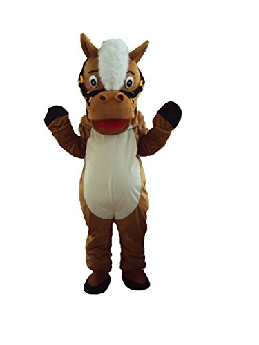 Halloween Maskottchen Kostüm für Erwachsene Fancy Dress Outfit (Kostüme Für Pferde Großbritannien)