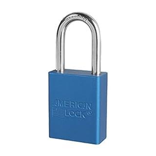American Lock A1106BLU1KEY Q# DG7272 Keyed Padlock, Aluminum, Blue