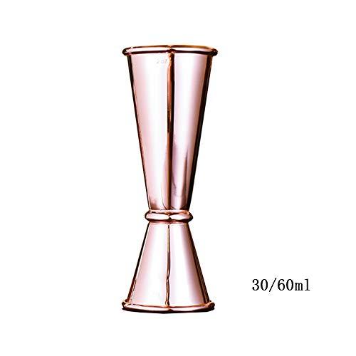 Jigger Cocktail Jigger Bar Mesure de Bar Ensemble doseur double30ml / 60ml Esprit de mesure Or, Rose goldv FENGMING (Couleur : Cuivre, taille : 30/60ml)
