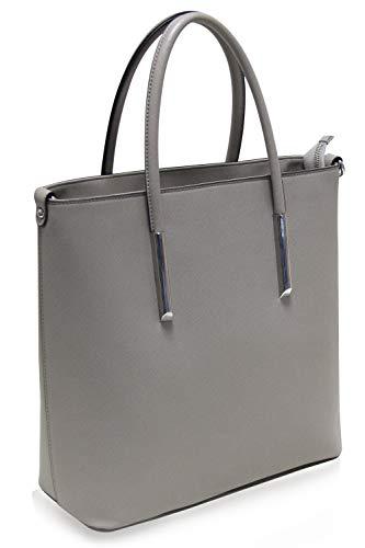 Super Damen Handtasche in Saffiano-Leder Design, Wasserabweisend, Schule, Din A4