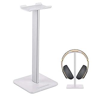 Headphone Stand Gaming Headset Stands New Bee Solid Aluminum+TPU+ABS Headphone Headset Hanger Holder Mount Headphone Display for Most Headphones Bose,Beats,B&O,Sennheiser,Sony,AKG etc.(Silver)