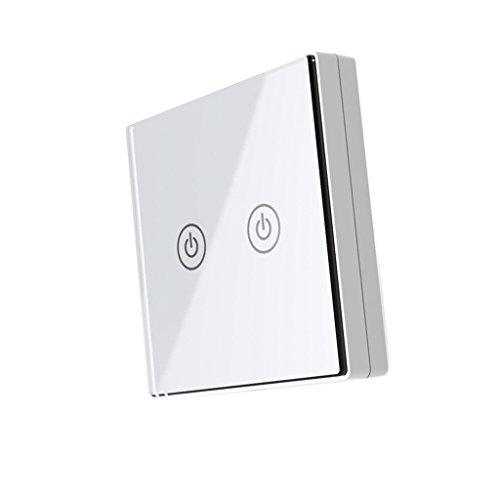 D DOLITY Wandschalter Akustikschalter Lichtschalter Sound Sensor Licht (Farben auswählen) - Weiß