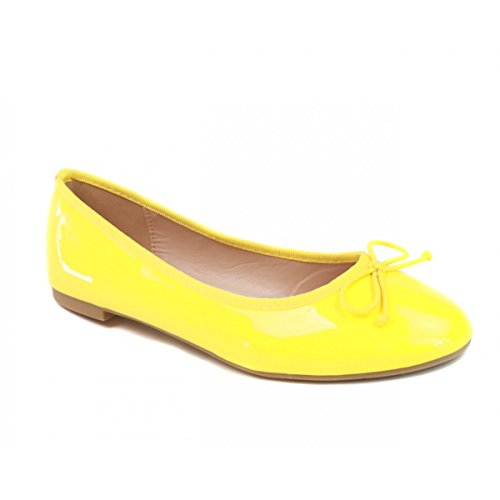 no-name-womens-ballet-flats-yellow-size-5