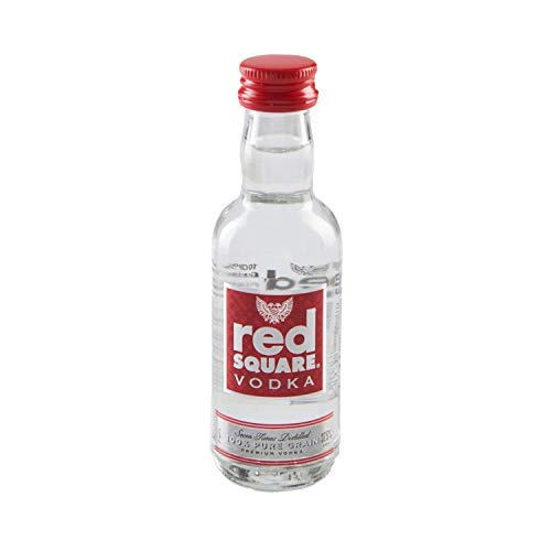 Vodka 5CL miniatura rojo cuadrado (Red Square)