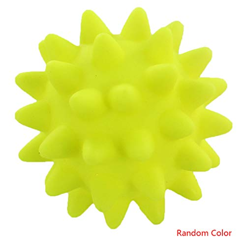 Morza Pet PVC Spitzen-Kugel Chewing Spielzeug Squeaky Kauen Ball Reinigung der Zähne hohe Bounce Spielzeug zufällige Farbe -