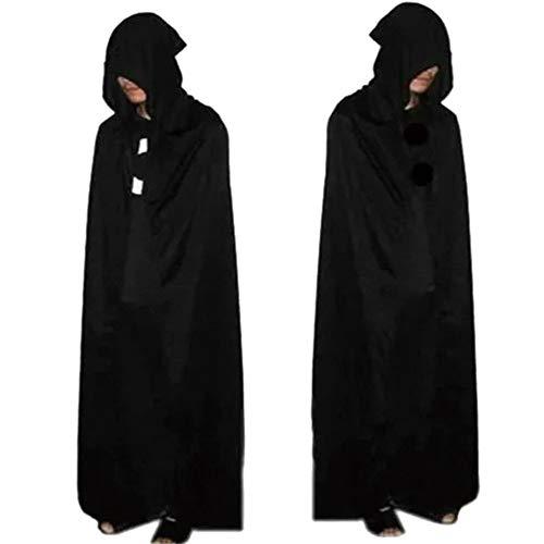 XIAOYUTOU Halloween Cosplay Maskerade Kleid Erwachsene Erwachsene Demon Scream Scream Ghosts Death Demon Kleidung (Color : Black, Size : One Size)