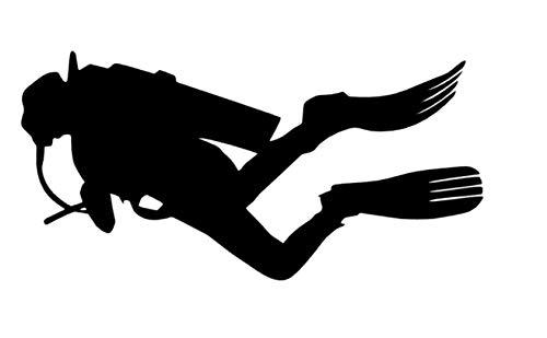 Generic Tauchsport Aufkleber in 10cm 15cm 20cm 25cm Taucher Tauchen Aufkleber Autoaufkleber Diving (121/2) (15cm, Silbergrau Glanz)