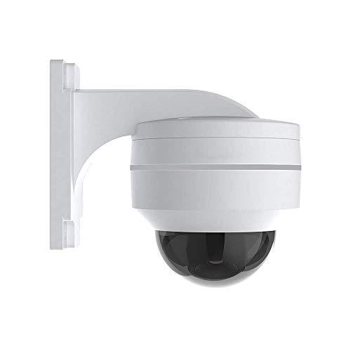 H.VIEW PoE IP PTZ Kamera 5MP Dome Überwachungskamera FHD ONVIF 5X Optischer Zoom 3.05-15.5mm Schwenkbare Sicherheitskamera für Außen/Ihnen Wetterfest IP67 Tag/IR Nachtsicht Bewegungserkennung