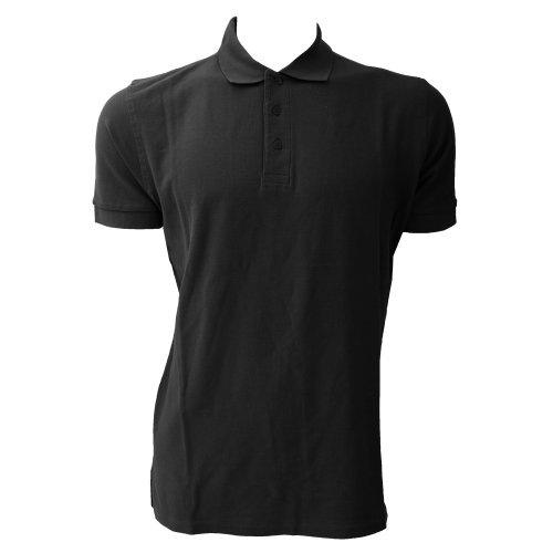 Jerzees Colours Ultimate Herren Polo-Shirt, Kurzarm (4XL) (Schwarz) (Herren Ultimate Polo-shirt Xl)