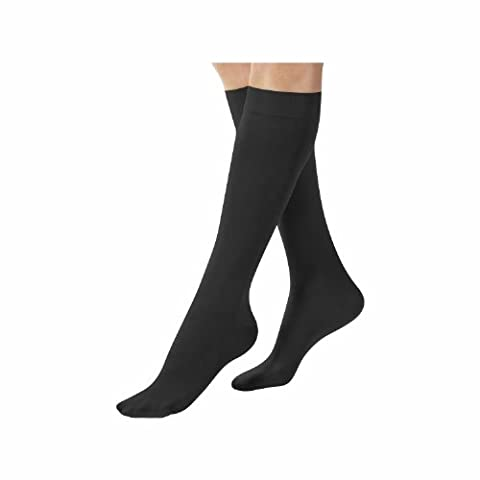 Terramed Graduated Compression Socks Knee Highs (Sheer) 20-30 mmHg Firm Support Stockings (X-Large, Black)