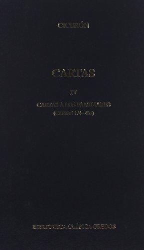 374. Cartas IV. Familiares, II (B. BÁSICA GREDOS) por Cicerón