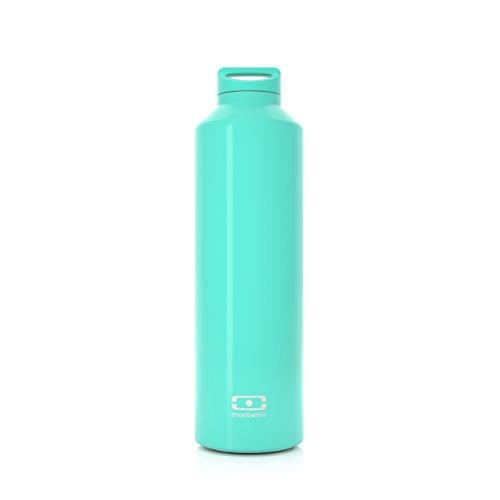 monbento - MB Steel grün Jade Edelstahl Trinkflasche BPA frei - Thermosflasche 500 ml mit Infuser
