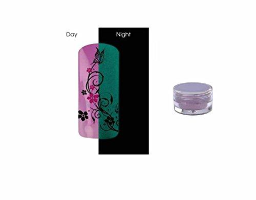 Poudre Phosphorescent Gel uv ongles - Brille la nuit - Pastel Purple REF8587