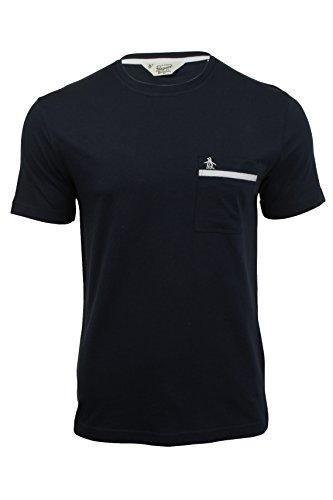Original Penguin Tape Pocket T Shirt in Dark Sapphire Dark Sapphire