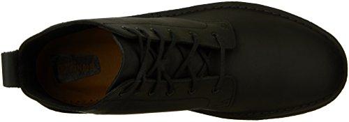 Clarks Mens Desert Mali Chukka Boot Black Beeswax Leather