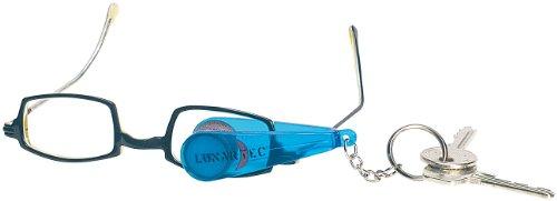 PEARL Brillenputzer: Brillen-Putz-Zange mit Mikrofaser-Tüchern im Schlüsselanhänger-Format (Brillenputztücher)