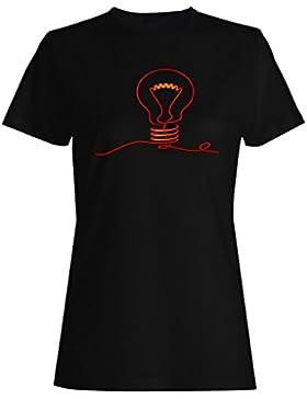 Electricidad bombilla electricidad divertido camiseta de las mujeres a428f