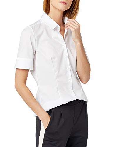 Für Einfache Kostüm Arbeit - Seidensticker Damen Bluse , Weiß (01), 38
