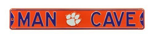 STEEL CLEMSON MAN CAVE STREET SIGN by Authentic Street Signs - Star Street Sign