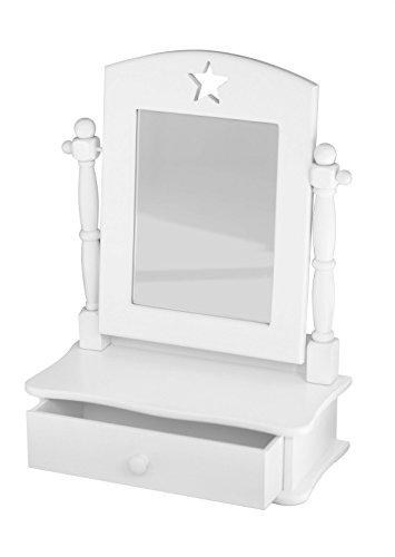 Preisvergleich Produktbild Kids Concept- Schminkspiegel STAR Kinderzimmer Holzmöbel - 40x30x30cm, Weiß