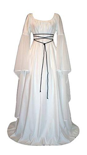 - Mittelalter Kleid Weiss
