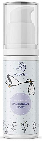WobeSan vegane und natürliche Brustwarzensalbe - beruhigende Pflege bei gereizten und rissigen Brustwarzen nach dem Stillen - 30 ml lanolinfreie Brustwarzencreme ohne Parfüm - von Hebammen empfohlen