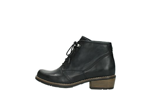 Wolky Schnürschuhe 0565 Real 800 schwarz Leder